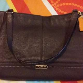 Authenthic Prelove❤️ Coach Park Leather Carrie Tote (F23284)