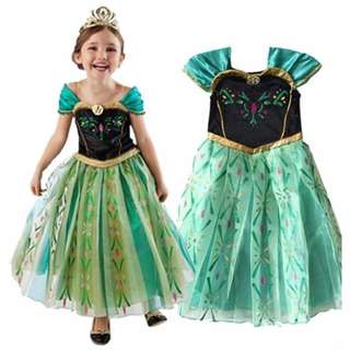 Elsa Costume Anna Costume Frozen Costume Halloween Costume Kids Dress Gown Birthday Dress Queen Costume Christmas Party Dress Children Cosplay Photography Outfit