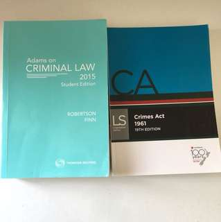 Criminal Law textbooks