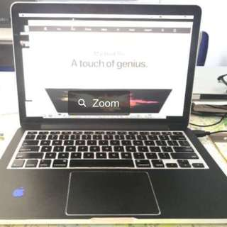 MacBook Pro (Retina, 13-inch, Early 2015) with decal sticker 128G