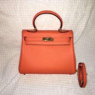 Hermes Kelly inspired Bag, brand new, genuine leather