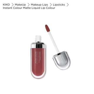 Kiko Cosmetics 'Instant Colour' Matte Liquid Lipstick in Amarinth