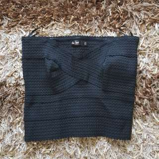 Crop Ribbed Tube Top Size XS