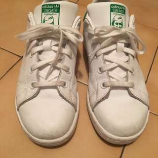 Stan Smith ADIDAS white and green sneakers Sz. 3