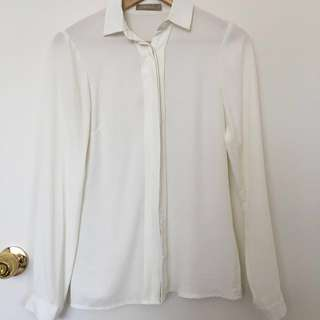 White Collar Blouse Q