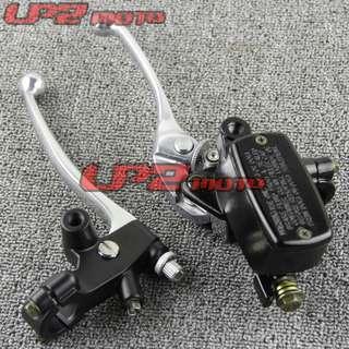 Super4 super 4 cb400 brake pump and clutch lever set