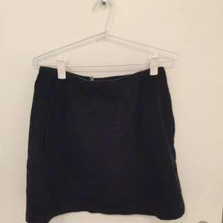 TopShop Black Denim Skirt