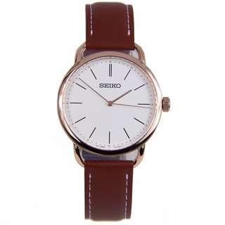SUR238P1 SUR238P SUR238 Brand New Seiko Quartz 50m Analog 100% Authentic White Dial Female Dress Watch w/ Warranty