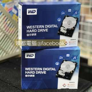 全新行貨- Western Digital WD Blue 1/ 2/ 3/ 4TB HDD 內置硬盤