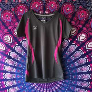 fbt v neck slim fit sports tee top female