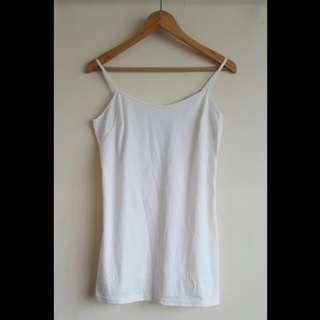 White Spaghetti Strap Lining Dress (M)