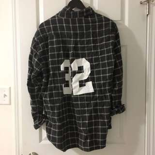 BRANDY oversized jersey flannel