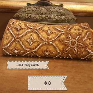 Fancy Golden Clutch
