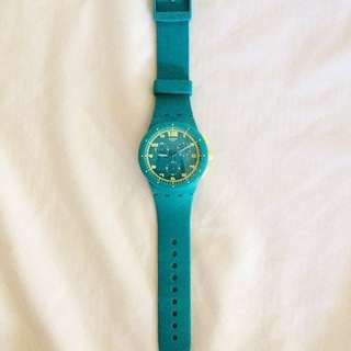 Swatch Blue Green Yellow Watch (reduced price)