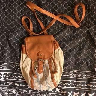 sportsgirl bohemian style small handbag/cross body bag