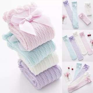 Ribbon Long Socks (white)