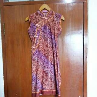 Batik dress ld90