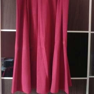 Padini Red Midi Skirt