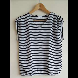 Apple & Eve Striped Shirt (L)