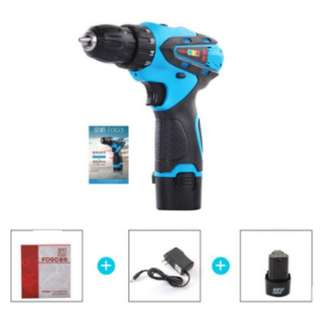 Available Now BN 1 set only Cordless Electric Compact Mini Drill Screwdriver Portable Polishing Cutting Grinder  Power Tool w LED light Battery life indicator 12V Li-ion Batteries + Charger DIY tool Brand OEM China