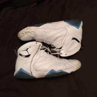Jordan 7 French Blue Basketball Shoe Size 13