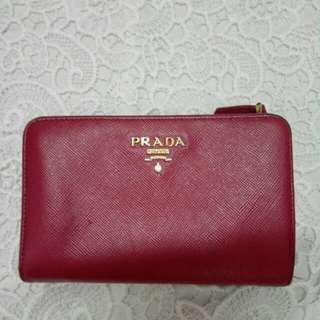 Prada Wellet 100% real 中長款