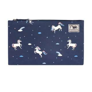 BN Ripples Unicorn Flat Pouch (Navy Blue) / pencil case
