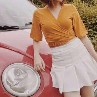 Mustard Bolero Top and Tennis Skirt