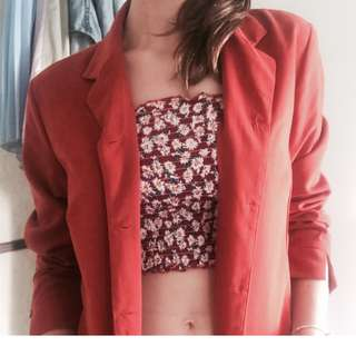 Groovy burnt orange vintage style jacket/shirt
