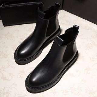 2017秋冬基本新款厚底英倫風短靴馬丁靴
