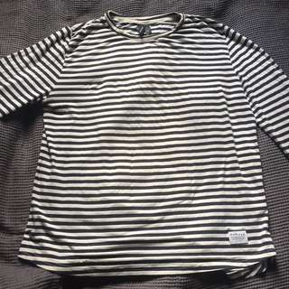 Long sleeve stripped Huffer shirt