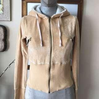 Zip-up sweater: size XS