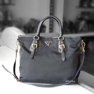 Authentic Prada Black Nylon Tote