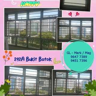 Aluminium grilles & window for BTO & HDB.
