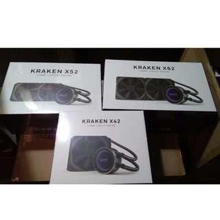 NZXT Kraken X42 / X52 / X62 High Performance Liquid Cooler with Lighting & CAM Controls