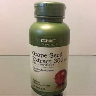 🔥HK$260/2樽🔥 ☆抗氧化☆抗衰老☆ GNC葡萄籽精華300mg Grape Seed Extract 300mg (100粒)