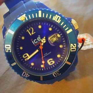 正品ICE WATCH藍色大錶面針錶 全新