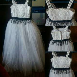 Black and white gown for kids