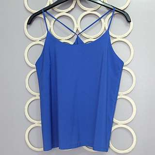 Coco Cabana Blue Top (size: small)