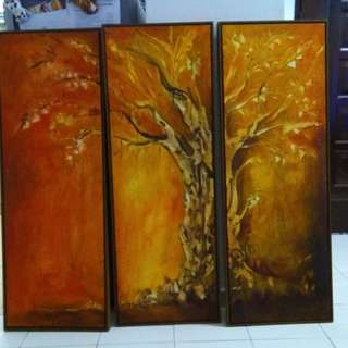 Hand Painting Wall Frame 3pcs