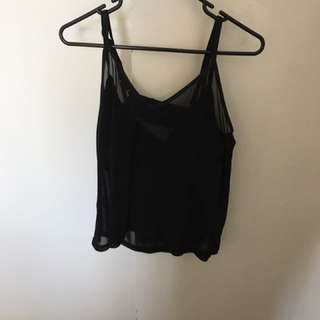 Evil Twin black mesh swing top size large
