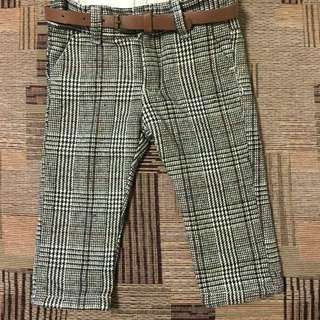Zara checkered pants with belt