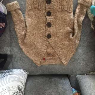 Woollen knitted jacket