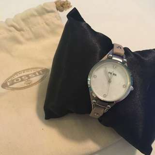 Women's fossil watch - mother of pearl face