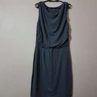 Garnet Hill Gray Dress