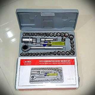 💯🆕40pcs Combination Socket Wrench 🔧 Set🌟NEW STOCK 🌟
