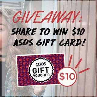 GIVEAWAY: WIN $10 ASOS gift card