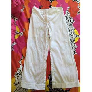 Country Road White Linen Pant