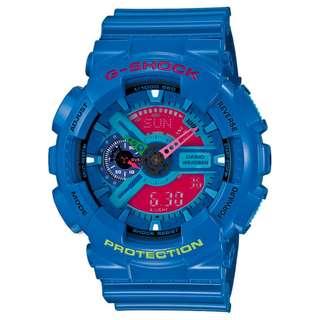 CASIO G-SHOCK GA-110 series GA-110HC 藍色 GSHOCK GA110HC