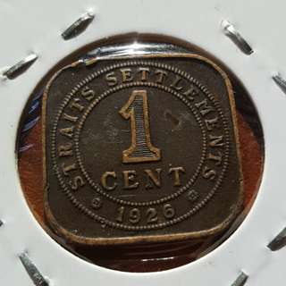 1926 Straits Settlements  one coin